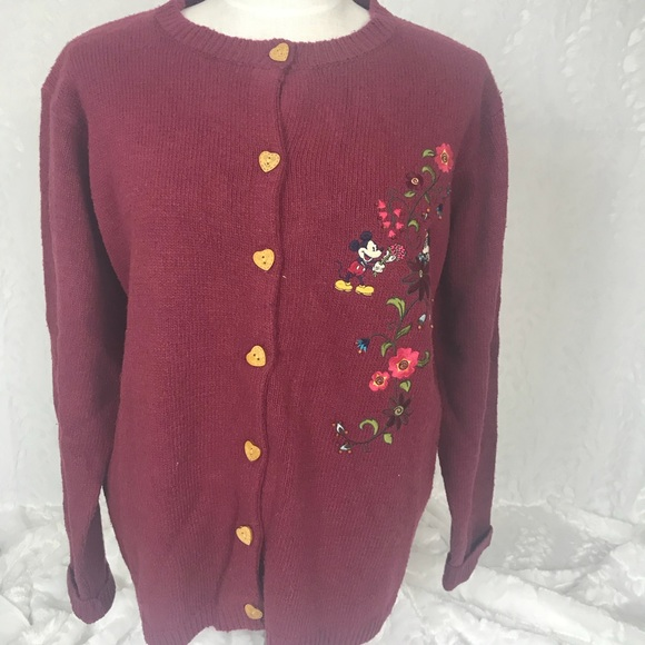 3fdcdf02a94 Disney Store NWT cardigan embroidered sweater Lg